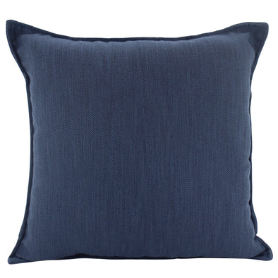 Navy Blue Cushion Cover with Flanged Edge - 55 x 55 cm