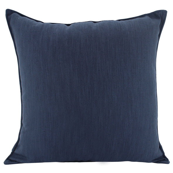 Navy Blue Cushion Cover with Flanged Edge