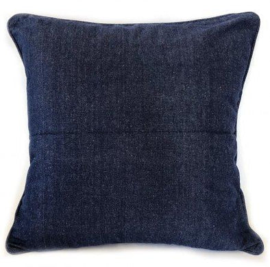 Chambray Navy Blue Cushion Cover - 50 x 50 cm