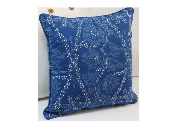 Floral Sea Blue Cushion Cover - 2 Sizes