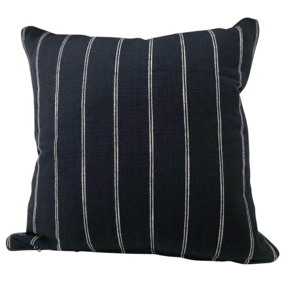 French Country Navy with White Stripe Cushion Cover - 40 x 40 cm