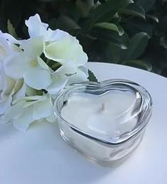 Luxury Soy Candle in Glass Heart with Lid - Gardenia and Lily
