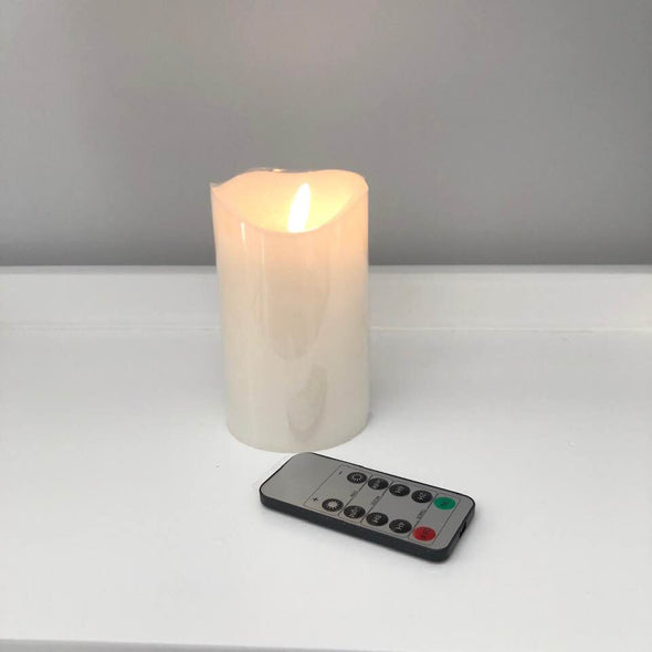 LED Pillar Candle with Remote - 12.5 cm