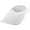 Tulip Shell White Ceramic Planter Pot