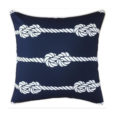 Outdoor Cushion - Navy and White Nautical 45cm
