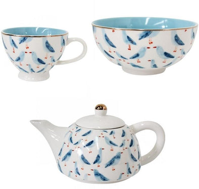 Set of 3 Seagull Breakfast Set