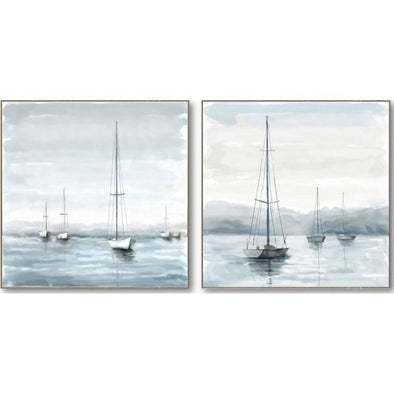 Yacht on a Misty Morn Framed Wall Art