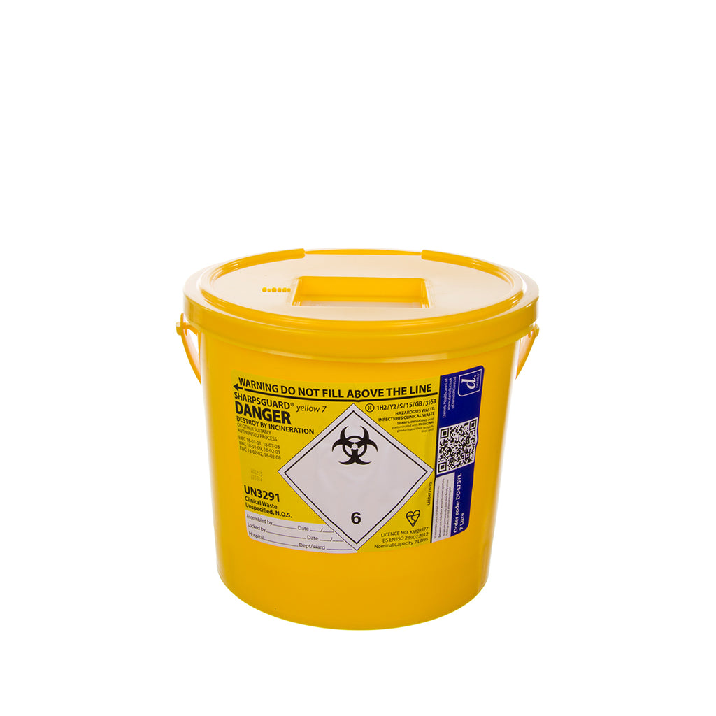 Sharps Bin - Yellow - 7Ltr
