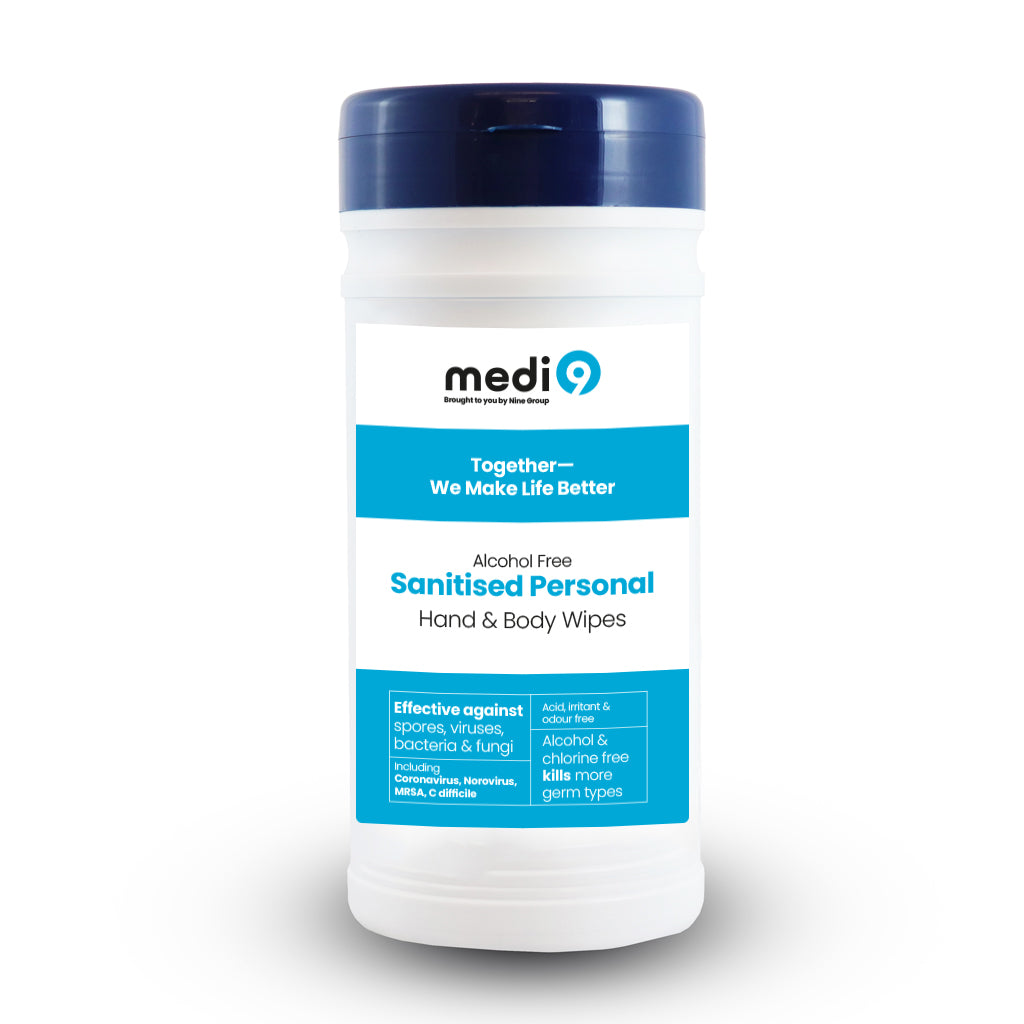 Medi9 Hand Sanitising Wipes Refill Pack - 200