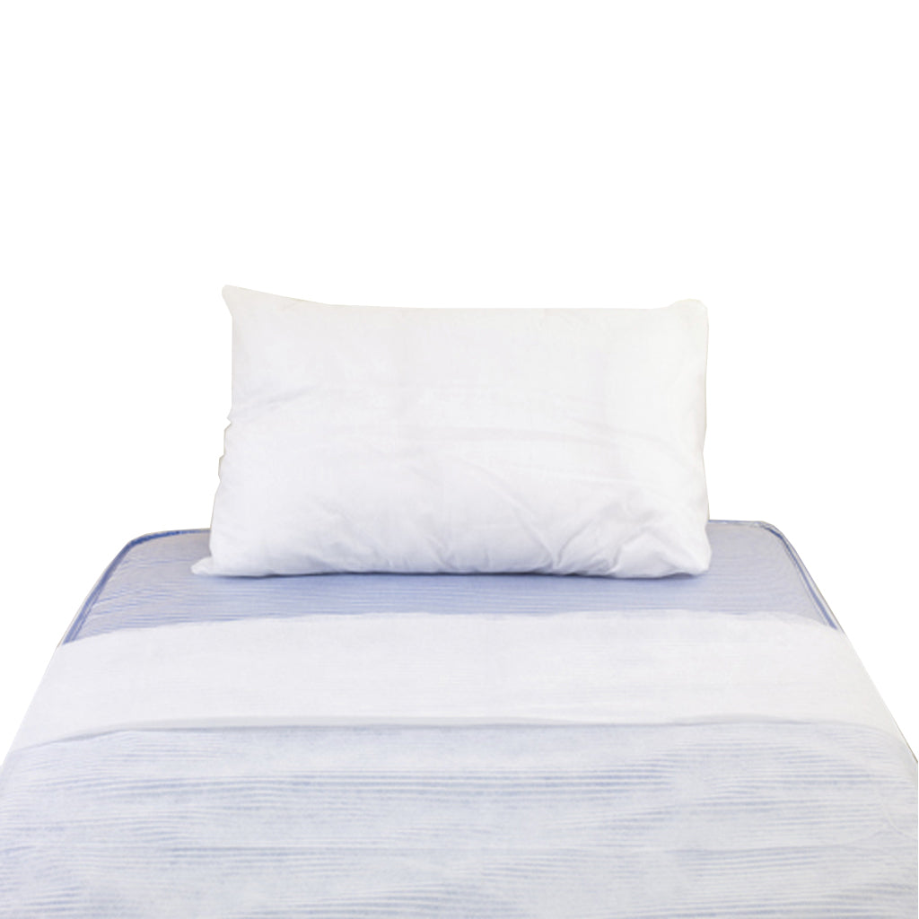 Pillow Case & Duvet Cover Set - Non Woven Disposable - White - Each