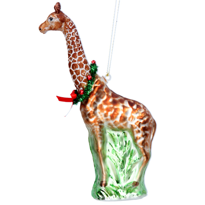 Painted Glass Giraffe Dec
