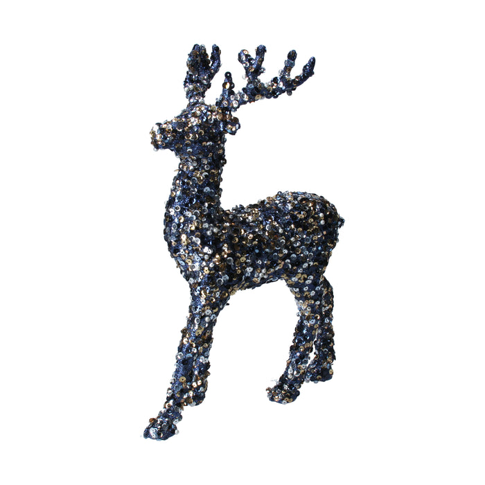 Resin Standing Stag w Animals Orn