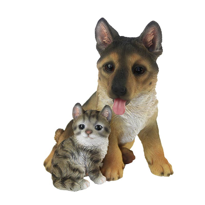 37000477- GERMAN SHEPHERD PUP WITH KITTEN