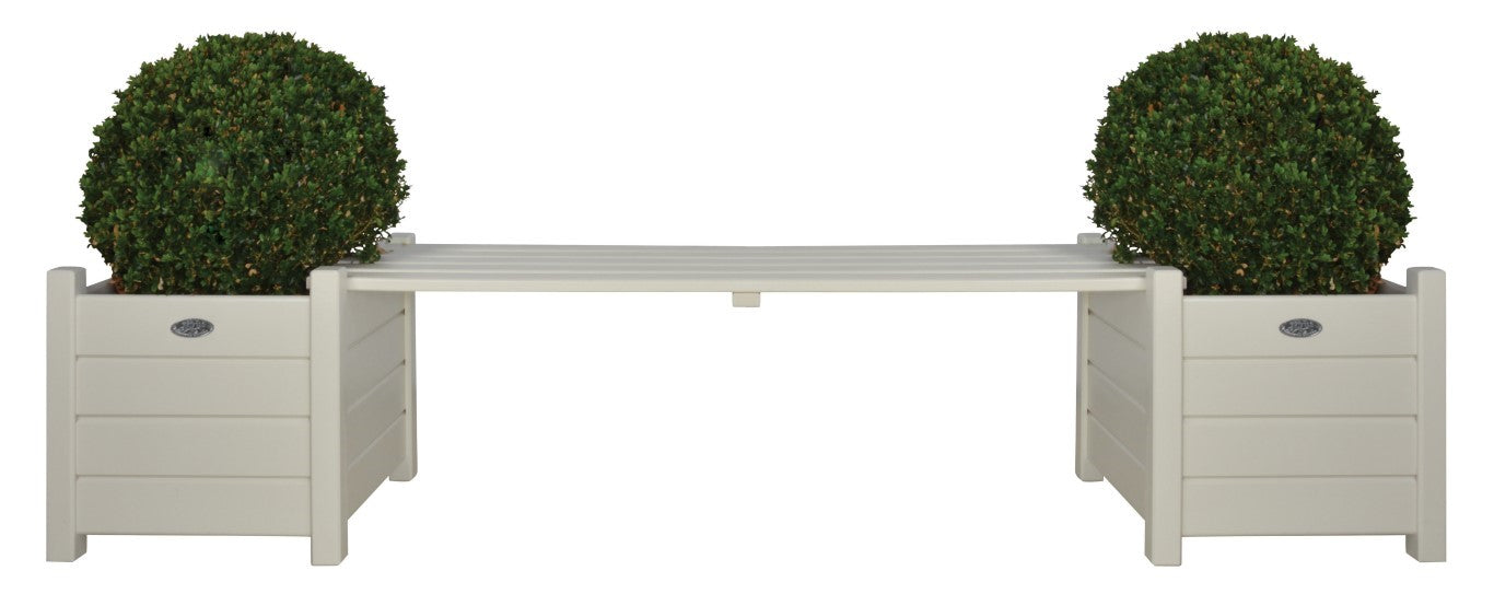 CF33W - BENCH WITH PLANTERS (CREAM) FSC 1