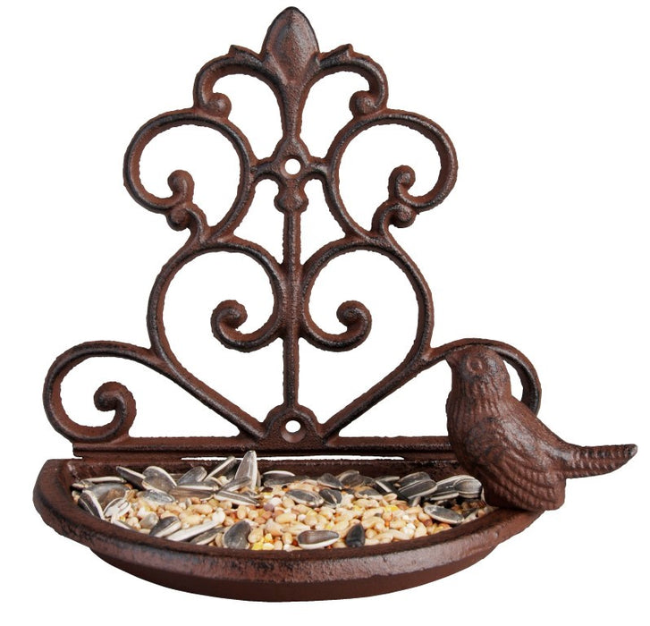 FB266 - CAST IRON WALL BIRD FEEDER