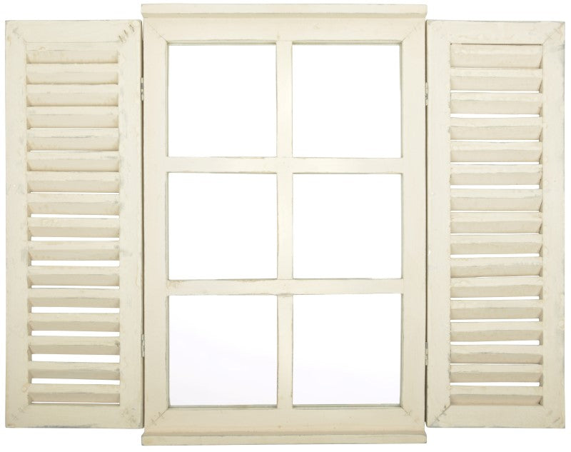 WD42 - MIRROR WOOD SQUARE WHITE WASH