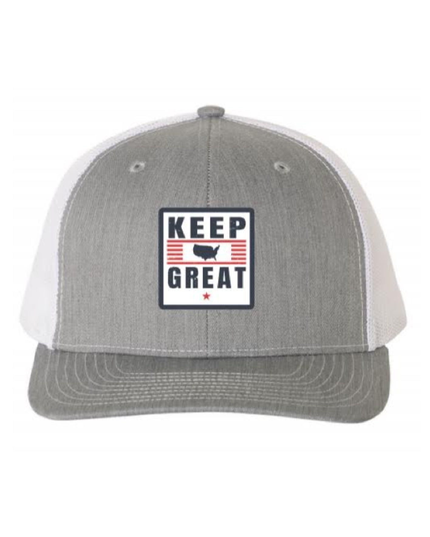 Keep America Great Grey/Navy Trucker Hat