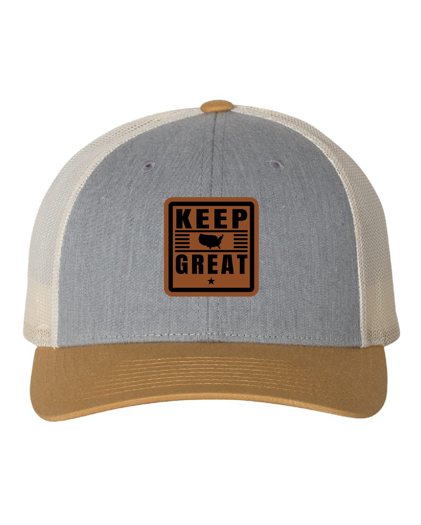 Keep America Great Grey/Brown/White Trucker Hat