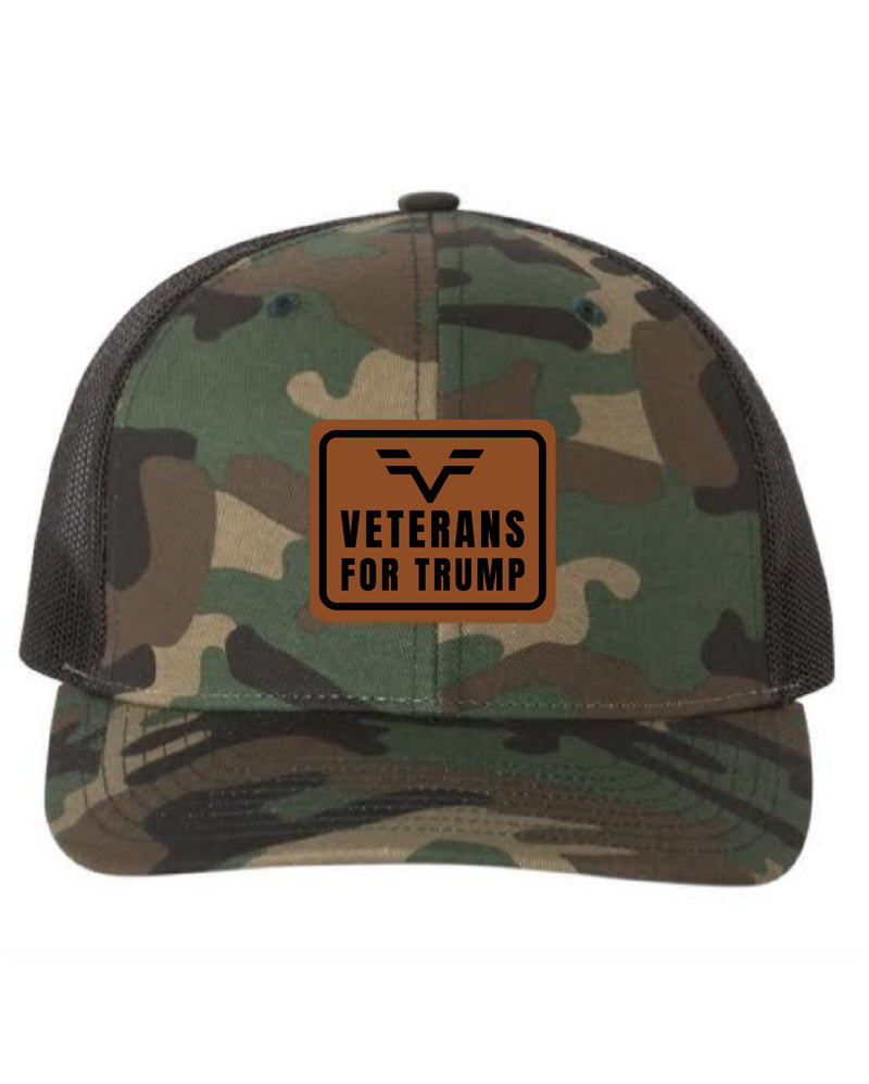 Veterans for Trump Camo Snapback Hat