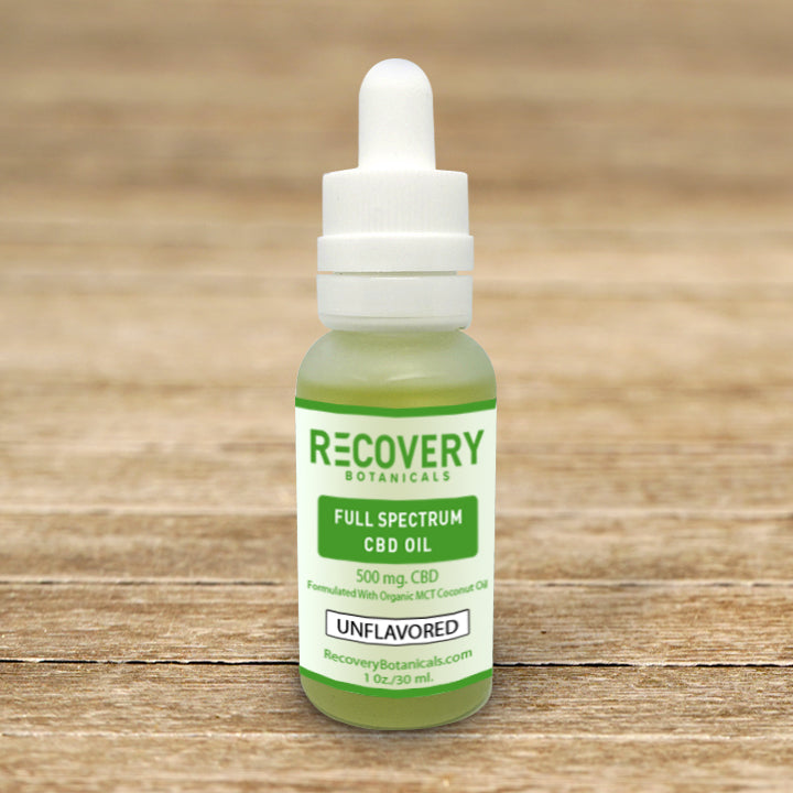Load image into Gallery viewer, Recovery Full Spectrum CBD Tincture - <.3% THC