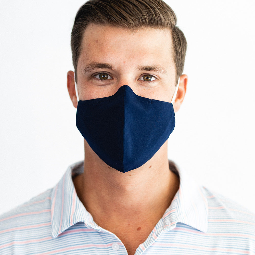 Face Mask - NAVY - 5 Pack