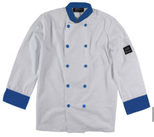 Load image into Gallery viewer, Contrast Trim Chef Coat