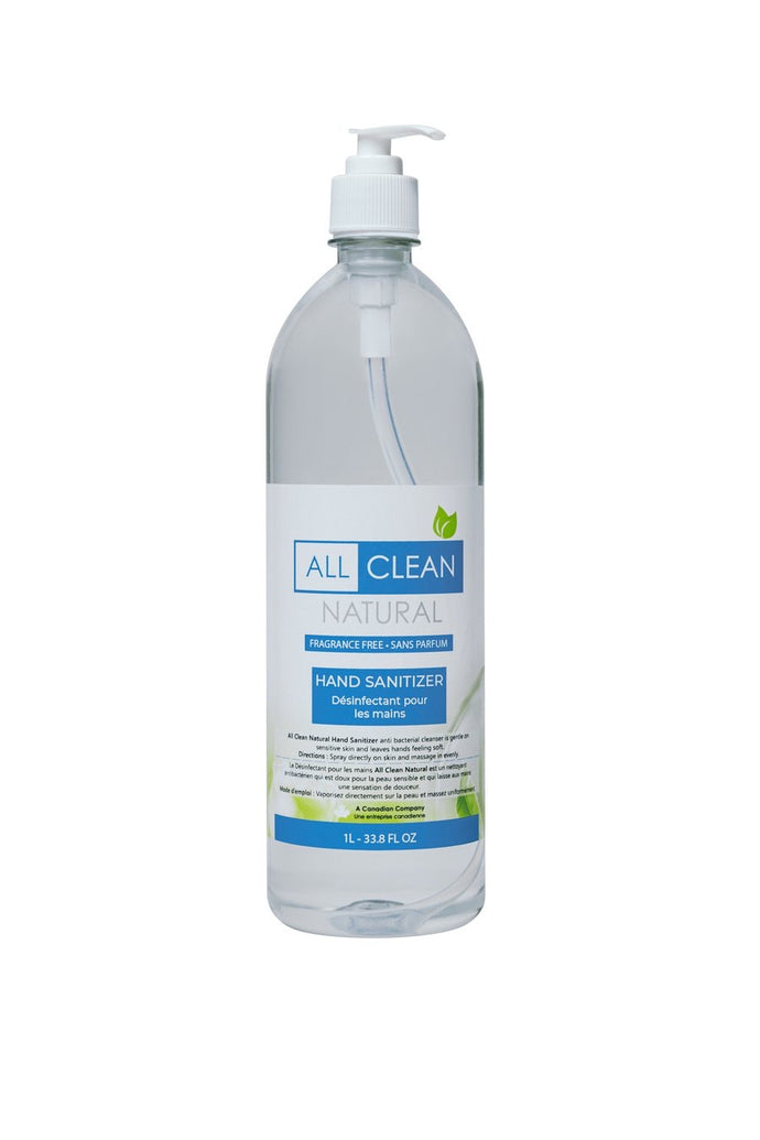 All Clean Natural Hand Sanitizer 1L with Pump