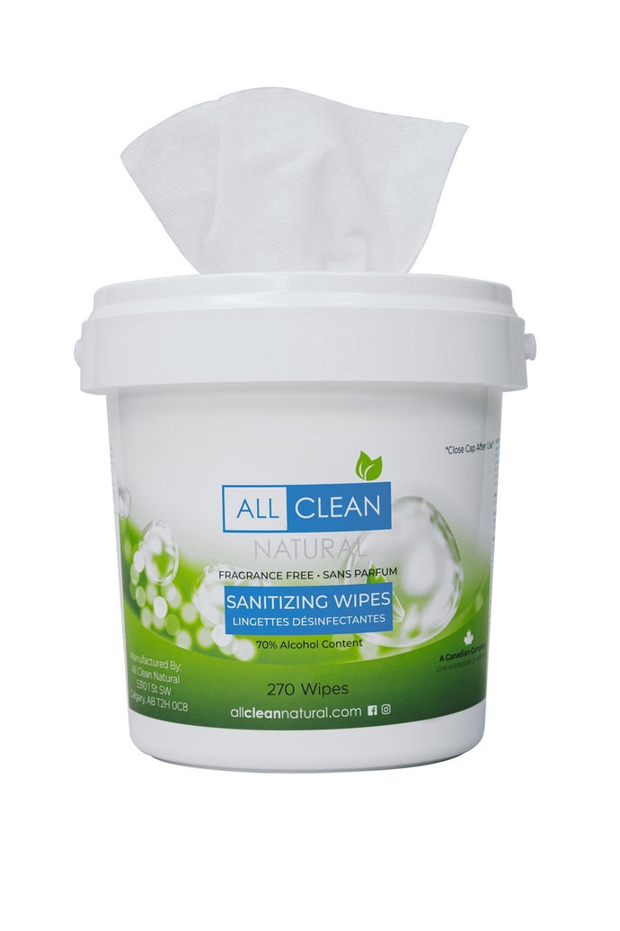 All Clean Natural Small Sanitizing Wipe (270 Wipes)
