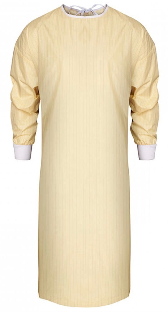 Washable Reusable Isolation Gown - Yellow