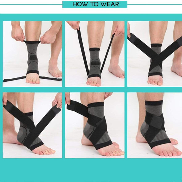 3D Weaving Ankle Compression Sleeve - Health Boss