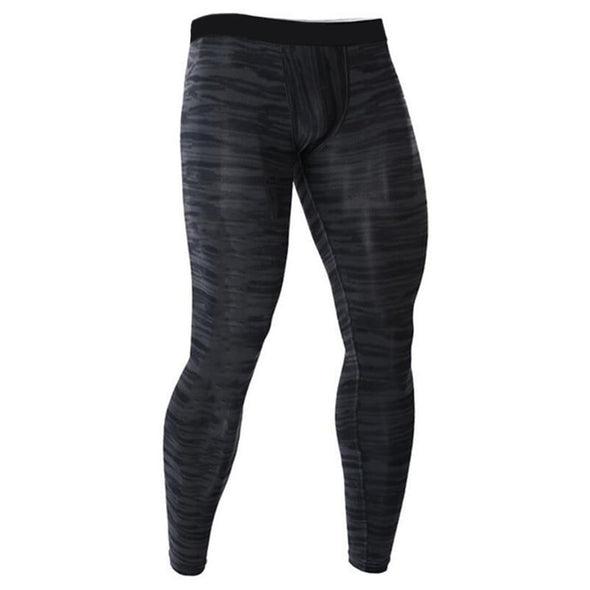Men's Striped Compression Leggings - Health Boss