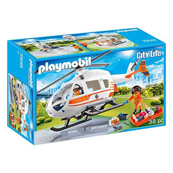 Playset City Life Rescue Helicopter Playmobil 70048 (38 pcs)
