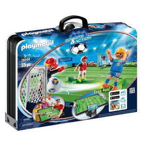 Playset Sports Action Football Game Playmobil 70244 (35 pcs)