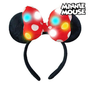 Diadem Minnie Mouse 71125 LED Svart Röd