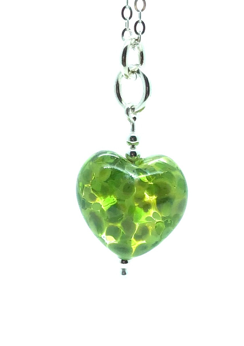 Happy Glass Heart in Meadow