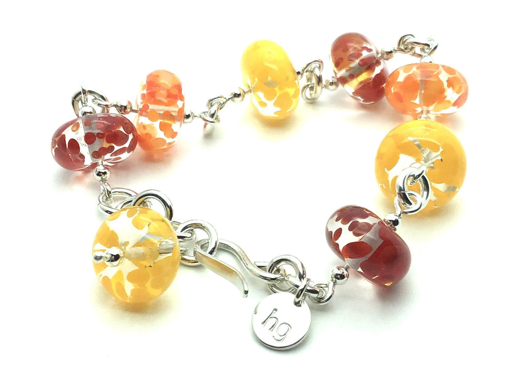 Happy Glass Bracelet in Fiery