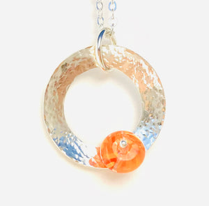 Orbit Pendant in Tangerine