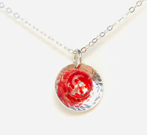 Orbit Necklace in Lady Bug