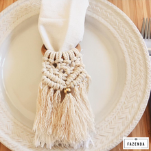 Load image into Gallery viewer, Handmade Macrame Napkin Holder