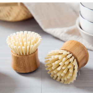 Cleaning Brush w/ Bamboo Handle