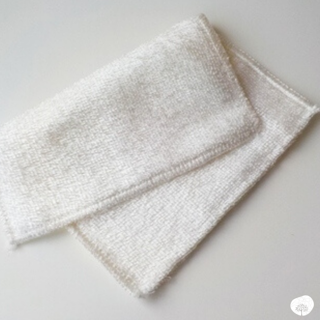 Bamboo dishcloth white