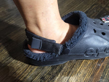 Load image into Gallery viewer, Black Comfort Relax fit Heel Straps for Clog Shoes with 4 Rivets!