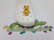 Load image into Gallery viewer, Big yellow glitter bear