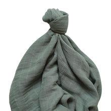 Load image into Gallery viewer, Ivy Baby Wrap Sage 120x120cm Bamboo/Cotton