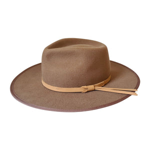 Dakota wide brim Fedora Hat in Tan