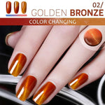 Load image into Gallery viewer, 2-in-1 Cat Eye Thermochromic Nail Polish