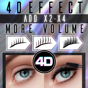 4D Lifting Waterproof Voluminous Mascara