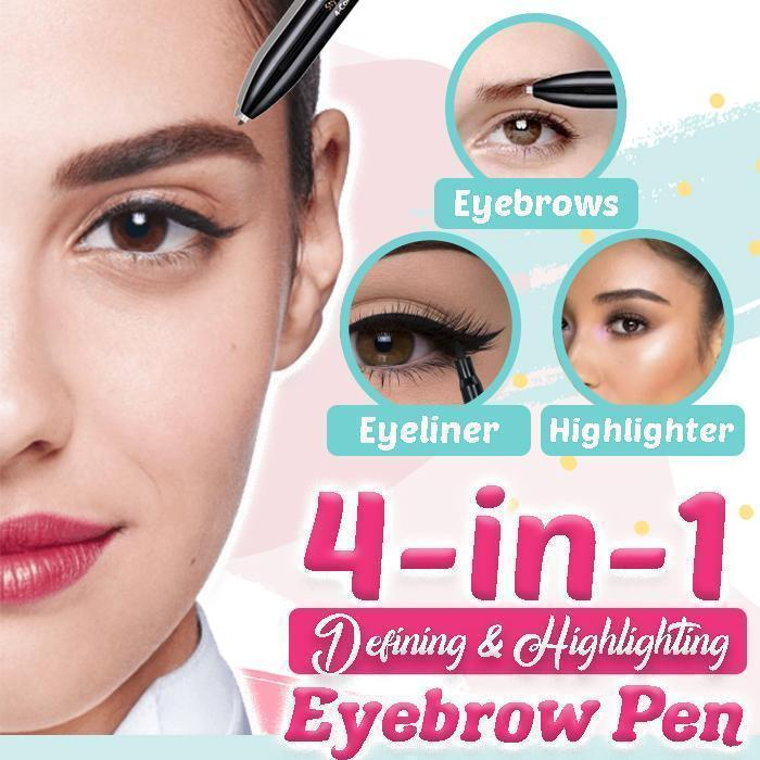 4 Colors Defining & Highlighting Eyebrow Pen