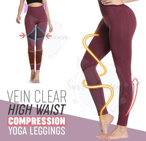 Vein Clear High Waist Compression Yoga Leggings