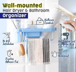 Load image into Gallery viewer, Wall-mounted Hair Dryer & Bathroom Organizer